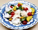 イカと季節野菜の塩炒め