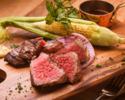 【乾杯スパークリングorクラフトビール付き】黒毛和牛門崎熟成肉と幻の豚東京Xの贅沢グリル盛り合わせコース