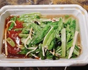 【T.O.】ユーマー菜とマコモタケの黒豆ソース炒め