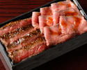 【Take away】Roasted Beef & Char-Grilled  Steak Bento Box ※ Limited: 10 meals / day