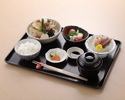 【鰈の煮卸し御膳】常盤もの 鰈の煮卸し、福島県産コシヒカリなど