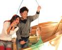 2月 鯛の塩釜付き釣りコミコース(お料理5品+釣りチケット3枚)【ランチ・ディナー】