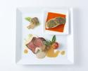 【選べる2ドリンク付き】お肉&お魚のダブルメインプレートランチ+サラード&スイーツアイランド付
