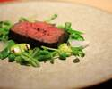 ① Carefully select the main dish Upgrade to Japanese beef (for menus of 8500 yen)