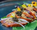 Smoked Duck with Oscetria Caviar, Foie Gras & Yuzu Kosho Sauce