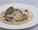 Baked Awaji onions risotto in house smoked Kagoshima eel, 12 years balsamic vinegar from Modena