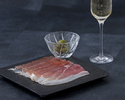 24th months parma ham (50 gr) served with green olives