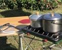 【器材セット】冬季限定!鍋ツーバーナーセット(~8名程度)7,000円(税込7,700円)