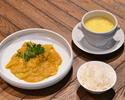 【TAKE OUT】シンガポール・ホーカーセット(ココナッツシュリンプカレー・ライス&スープ)