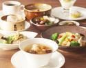 ◆【平日ランチ】アフタードリンク付き!薬膳スープで身体の芯から温まるランチ☆熱菜二品に選べる豆乳粥とご飯おかわり自由(ドリンク付きもお選び頂けます)