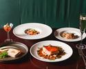 【PRIX FIXE COURSE / 金土日祝】前菜、パスタ、魚料理、肉料理Wメイン、デザートなど全6品+2時間飲み放題