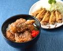 手羽先+秘伝のタレ唐揚げ丼セット
