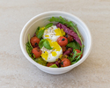 Slow roasted tomato and burrata salad