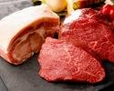 2名様~◆5,500yen◆【自社輸入ベルギービール5種&ワイン、カクテル、2時間飲み放題付き】『黒毛和牛門崎熟成肉』とブランド豚『TOKYO X』2種食べ比べ&ラクレットチーズコース