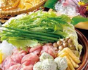 大山鶏とつくねのハリハリ鍋コース  5000円 (全10品)