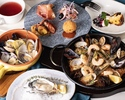 Luxury lunch full course with plenty of shellfish, popular tapas from La Coquina, and a main dish to choose from