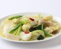 【お勧め休日ランチ】花イカと季節野菜の柚子風味炒め
