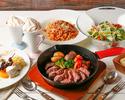 【ディナー】メインは定番!ビーフステーキラクレットコース 6皿8品 3,850円(税込)