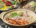【茜コース】海鮮寄せ鍋やお造りなど全品3,500円(税別)