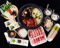 【食べ+飲み放題|2時間】5280円食べ飲み放題コース|豪州ラム/豚ロース/野菜11種など美食と薬膳スープ♪全8品
