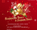 Christmas Special Dinner 5-course menu with mulled wine (Minimum spend per table for Private window seat)