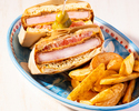 【オンライン予約限定で週末OK!】4種の選べるサンドウィッチ+本日のデザート