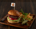 PRIME BEEF AVOCAD HAMBURGER-french fries-