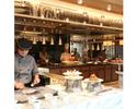 【土日祝】ディナー!夜には国産牛ローストビーフ、握りたてお寿司、揚げたての天麩羅が登場!