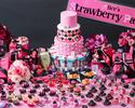 【土日祝:アリスのストロベリースイーツパーティー】~PINK & BLACK~デザートブッフェ(大人)