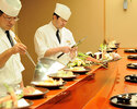 Reservation only for tempura counter seats [Lunch time Saturday and Sunday only] * Meals at the tempura counter