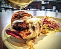 [Take Out] Pork Salsiccia Burger, Roasted Apple & Gorgonzola, Hazelnut, Coleslaw