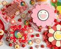 "【Weekend】 Takashi Murakami ""Flower""  collaboration strawberry afternoon tea with a glass of champagne"