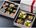 【2名様用】ガストロノミー グルメボックス 2段(前菜盛り合わせ+ヴォライユジョーヌ)《期間限定 特別販売》