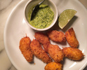 【TakeOut】Fried Coconut Shrimp, Cilantro Cashew Nuts Sauce
