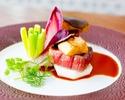 【15時~入店OK!フルコースディナー7300円】フォアグラや鮮魚&黒毛和牛のWメインなどを楽しむ全5皿