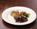AGIO' s speciality: Hamburger in demi-glace sauce