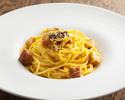 【テイクアウト】イタリア産 グアンチャーレとペコリーノチーズのスパゲティ カルボナーラ