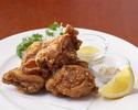 【テイクアウト】AGIOの鶏の唐揚げ ごま塩とマスタードを添えて