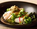 [DINNER] カジュアル和食コース8品とフリーフロープラン