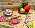 Kashiwanoha casual BBQ plan ・ ・ ・ ・ ・ ・ ・ ・ 3,000 yen per person (3,300 yen including tax)