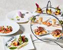 ◆乾杯シャンパン&世界三大珍味ハイティー前菜付きパスタメインコース