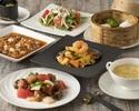 3月・4月【白金ランチ+選べる1ドリンク付】メイン2品に点心と人気の麻婆豆腐含む全7品