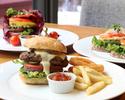 【4/1~】バーガーセット お好きなバーガー類1品+フライドポテト+スープ+デザートプレート