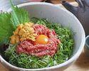 【限定5食】近江牛のユッケと雲丹のどんぶり膳