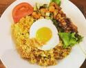 [外卖]椰浆炒鸡蛋+沙爹午餐盒