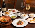 ポルトガルの定番料理を揃えた一番人気の《カタプラーナコース》