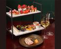 【苺のイブニングハイティー】オードブル、メイン料理、苺のガトー&フリーフロー