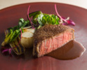 (ディナーA)千葉県産かずさ和牛ロース肉のロースト
