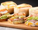 【オンライン限定・定番人気】 選べる3種のサンドウィッチ +本日のデザート