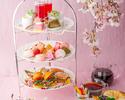 平日限定!!《桜と苺アフタヌーンティー》滞在時間最大4時間!専属パティシエが作る桜&苺の特製3段スイーツ×拘りの石窯で焼くセイボリー×チーズフォンデュ×全24種のハーブティー×カフェフリー♪